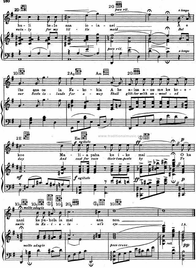 Best Hawaiian Melodies - lyrics, chords & scores, page: 279 ...