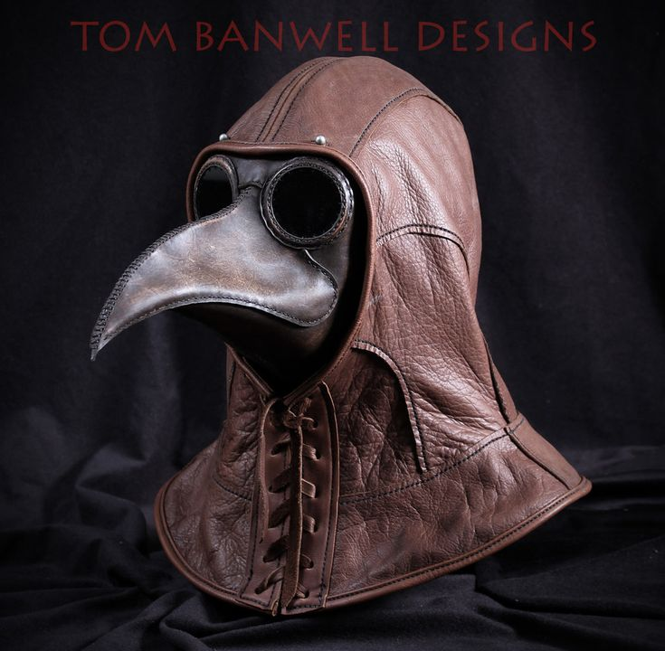 Plague Doctor Mask and Leather Hood by TomBanwell on DeviantArt