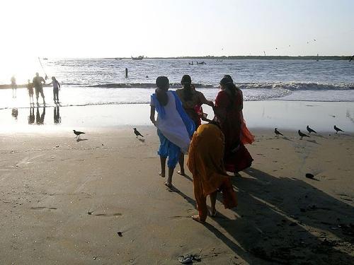 Quando arrivammo al fiume, ci fermammo a prendere fiato sulle sponde di terra rossa. La prospettiva di entrare in quelle acque agitate mi riempiva di emozione. Meenu si tolse i nastri che fermavano le trecce e si passò le dita tra i capelli, liberandoli. Poi ci guardò e disse: «Tuffiamoci!»  Ridendo, lei e Krishna lanciarono via i sandali e i vestiti; quindi saltarono in acqua, sollevando schizzi altissimi.  «Dai, Rakhee!» urlò Meenu. «Non fare la bambina!» (www.unacasadipetalirossi.it)