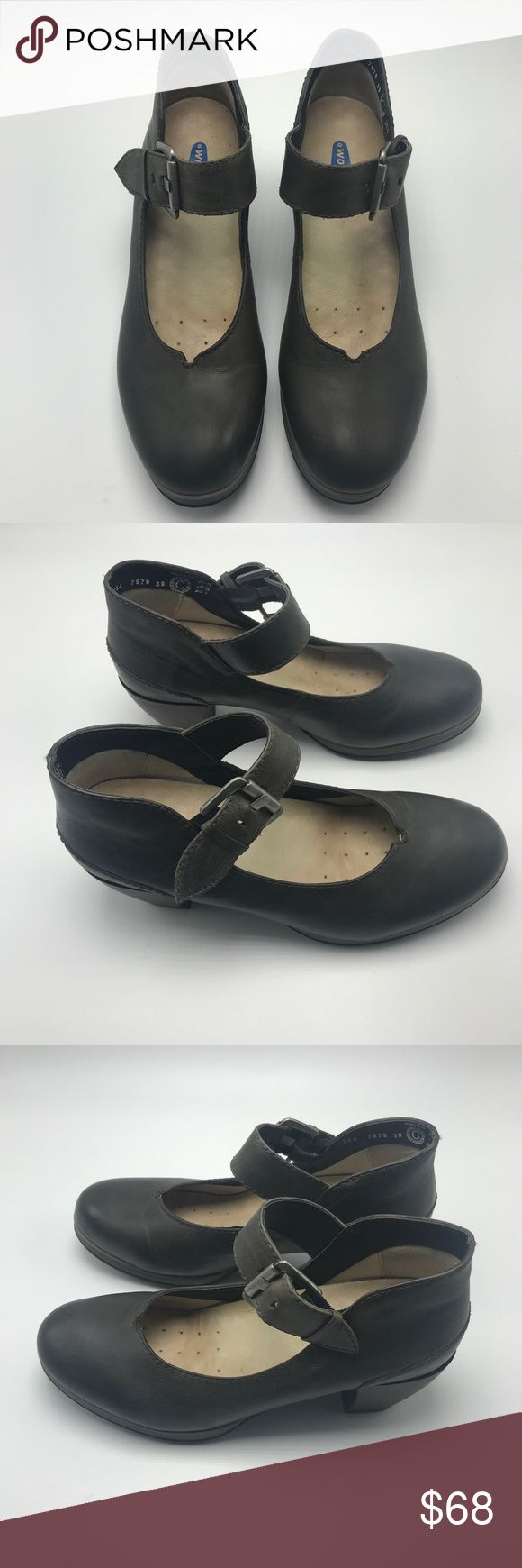 """Wolky Aya Vintage Gray Mary Jane Heels Sz 39 7.5 8 Absolutely beautiful, well- made shoes. These are in excellent used condition, only worn a few times. Heel height is about 2"""". See Wolky size chart for sizing questions. Wolky Shoes Heels"""