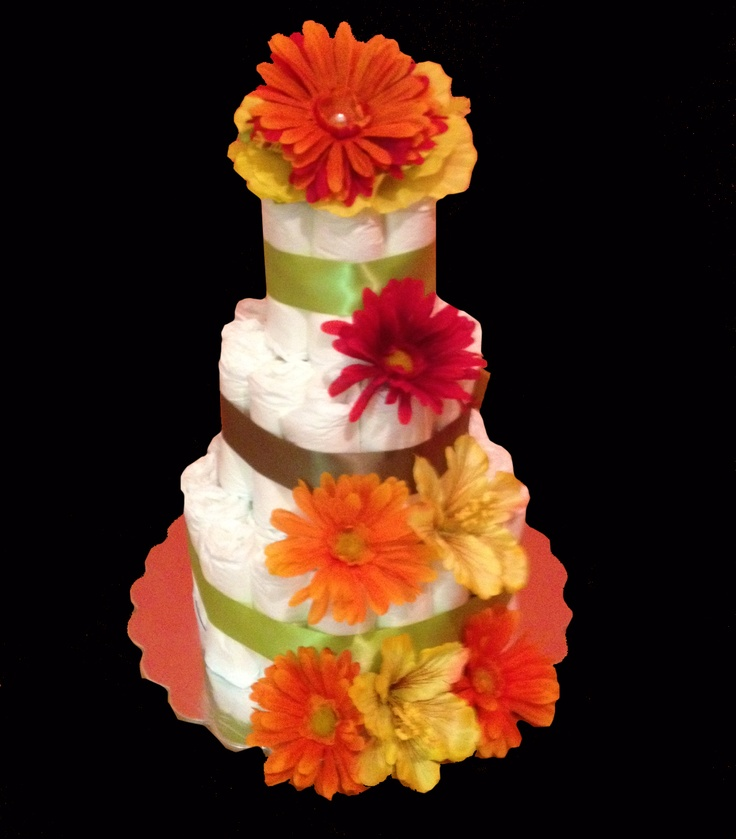 Fall Colors Diaper Cake! Perfect for any time of year but it definitely stands o…