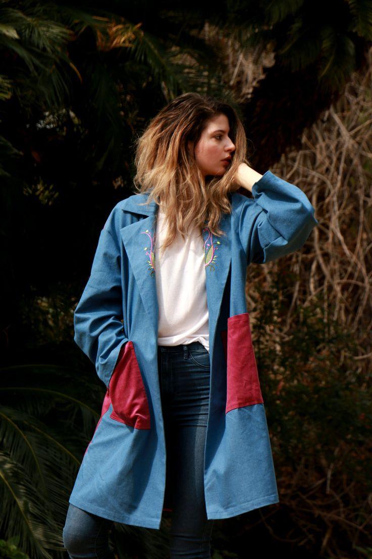 #Embroidered #denim #blazer