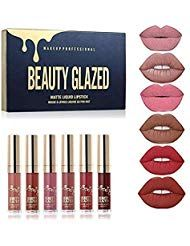 Beauty Glazed Lipgloss Antihaft Tasse Feuchtigkeitscreme Matte Lippenstift Wasse…