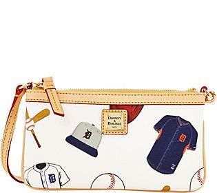 Dooney & Bourke MLB Tigers Large Slim Wristlet