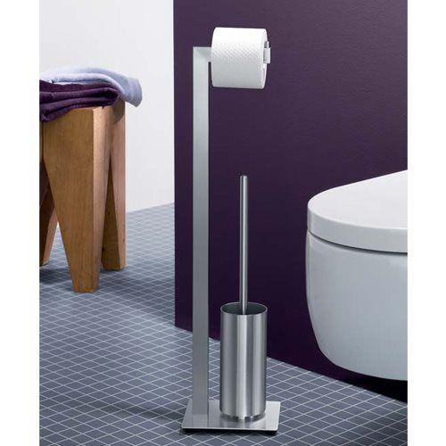 De Linea toiletbutler van ZACK is ontzettend handig in de badkamer of het toilet. Door zijn dubbele functie (toiletrolhouder én toiletborstelset) is hij namelijk ruimtebesparend, en door het sterke materiaal goed voor jarenlang gebruiksgemak!