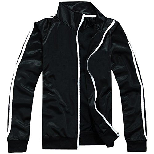 Partiss Herren Jungen Sport Training Cotton Stehkragen College Jacke Outerwear mit Reissverschluss,Tag 2XL,Black Partiss http://www.amazon.de/dp/B01C5ORPOW/ref=cm_sw_r_pi_dp_XE60wb1BATBXN