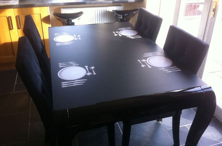 Table Vinyl Wrap For A Restaurant Made From A Large