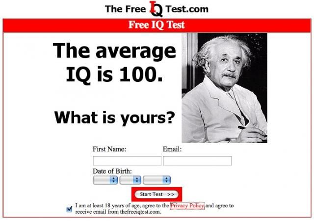 Dating site iq test
