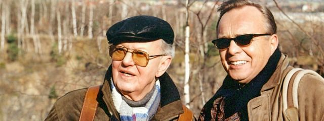 "Gert Gütschow mit Dieter Bellmann in ""In aller Freundschaft"""