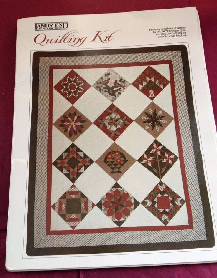 Lands End USA 1987 Christmas Quilt and Stocking Template Pattern Instructions