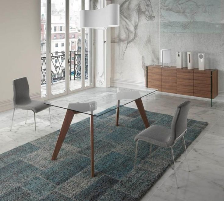 Vienna, Contemporary Glass Top Dining Table, Walnut Legs/3 Sizes/Rectangle or Oval - See more at: https://www.trendy-products.co.uk/product.php/9708/vienna__contemporary_glass_top_dining_table__walnut_legs_3_sizes_rectangle_or_oval#sthash.NVieqVsx.dpuf