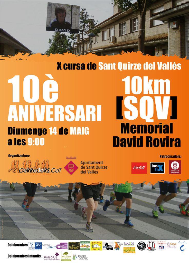 10a Cursa #MemorialDavidRovira   14 de maig del 2017 a Sant Quirze del Vallès #SQV #santquirzedelvalles