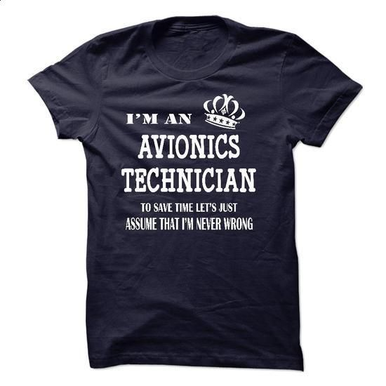 i am  an AVIONICS TECHNICIAN - #black zip up hoodie #black hoodie womens. MORE…