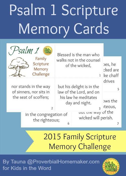 5 Days to Memorize Psalm 1 (Memorize… Psalms)