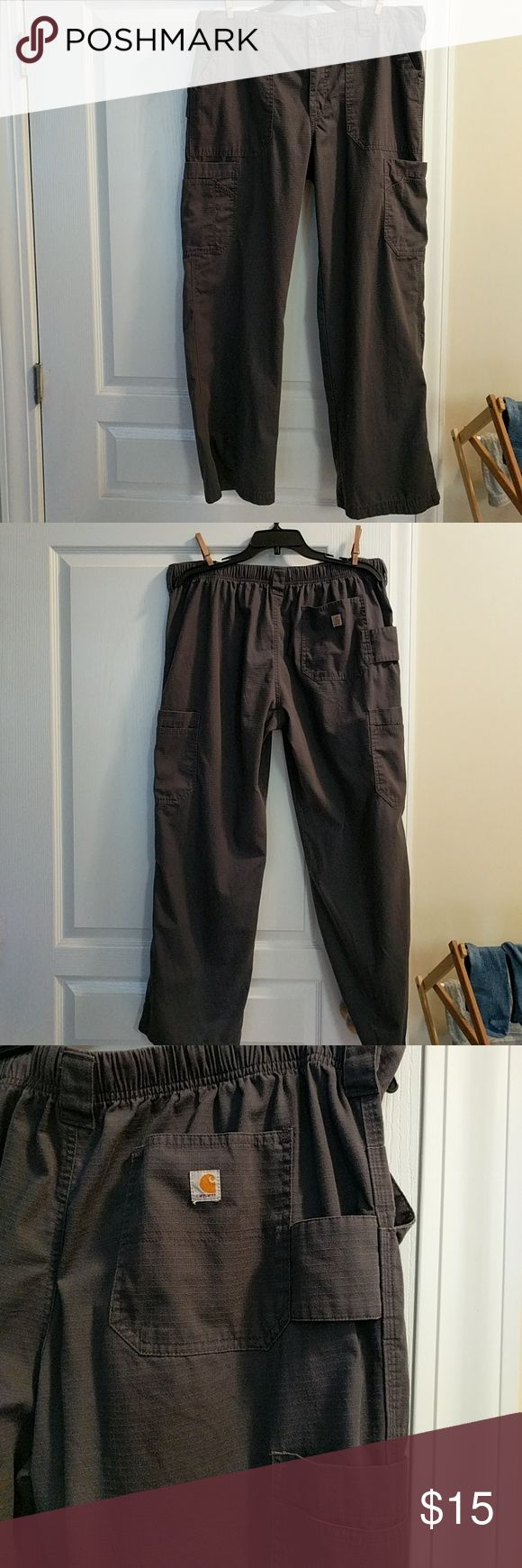 Carhartt Pants Very good condition, Large, Waist is 35-36, Inseam is 55% cotton, 45% Polyester Carhartt Pants Cargo