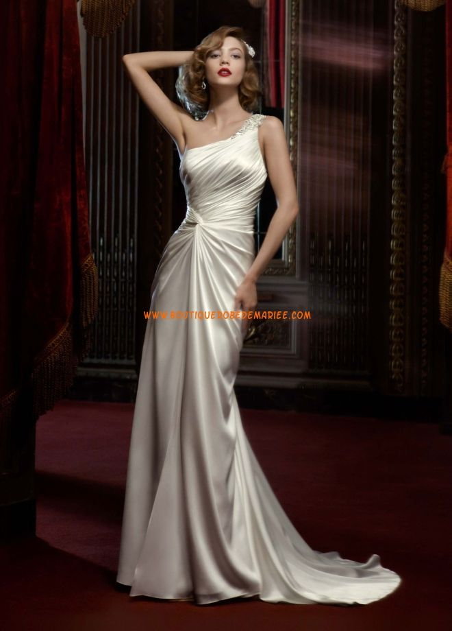 belle robe de mariée une bretelle belle robe mariée robe acheter ...