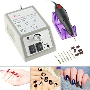 AWSTECH 15000RPM Nail Drill Machine Electric Nail File Machine Nail Art Polisher Sets Tools Manicure… Review