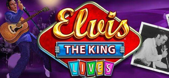 Elvis lebt noch! Starte Elvis The King Lives #Spielautomat von #WMS an und überzeuge dich selbst!