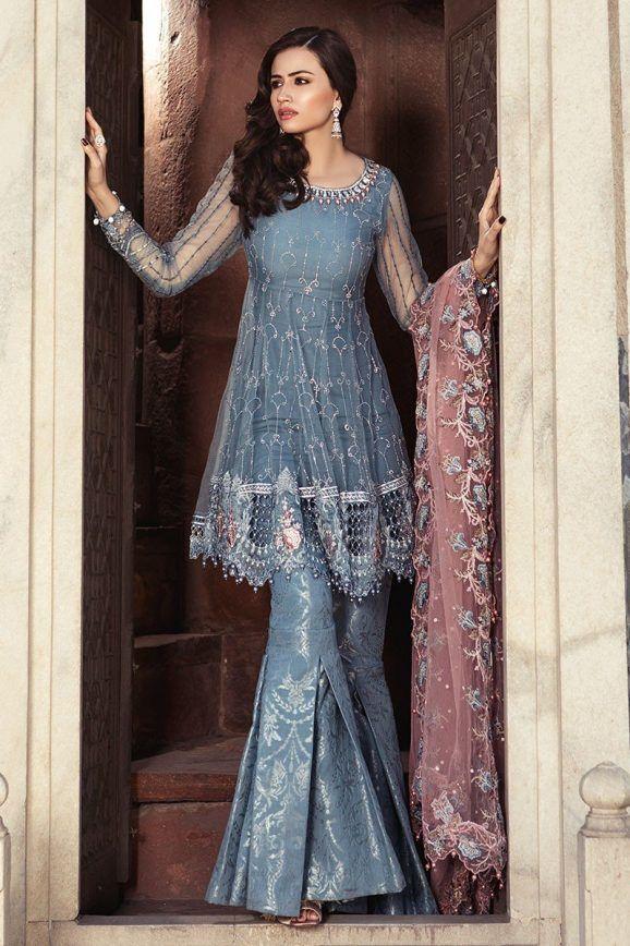 5dedb3a0f6 Best Eid Women Dresses Maria B Mbroidered Eid Collection 2019 | Eid Dresses  & Trends | Pakistani dresses, Gharara pants, Pakistani dress design