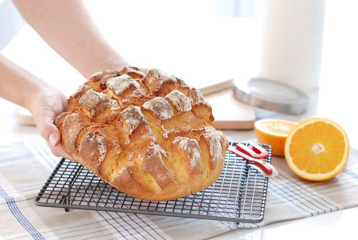Receta de pan rápido horneado dentro de una bolsa de asar.