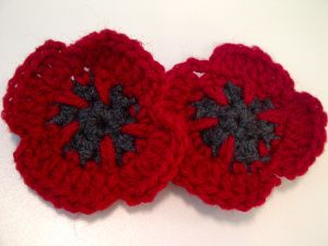 I've been making these for my auntie to sell for the British Legion on poppy day. She can sell them for about a £1 each, more than the standard paper poppy. They're easier to make than the knitted ...
