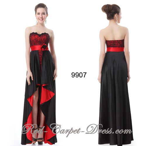 This stunning evening dress has a bit of a Spanish feel to it.