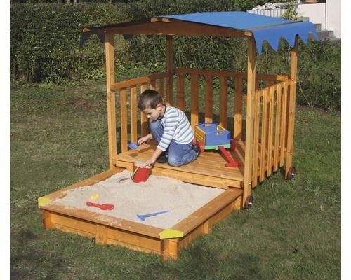 ber ideen zu sandkasten mit spielhaus auf. Black Bedroom Furniture Sets. Home Design Ideas
