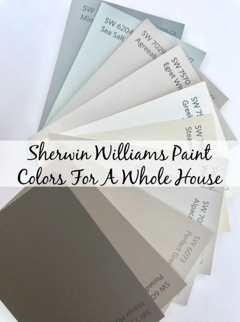 Non Boring Neutral Sherwin Williams Paint Colors For An Entire House