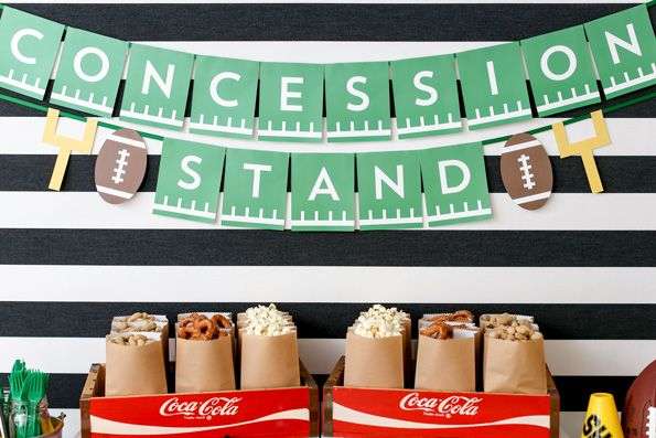 How cute is this printable banner for a football party??