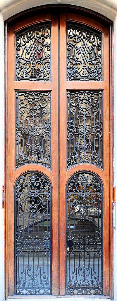 Art Nouveau doors in Barcelona, Spain - Casa Ferran Cortés  1902  Architect by Enric Sagnier i Villavecchia