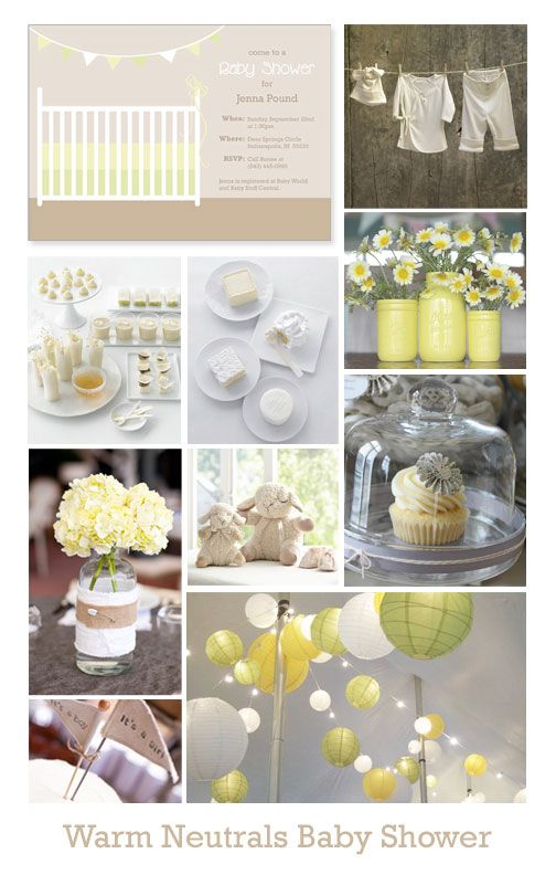 If you'd like to keep your baby gender a surprise, this warm neutral baby shower theme will be a great inspiration. #babyshower