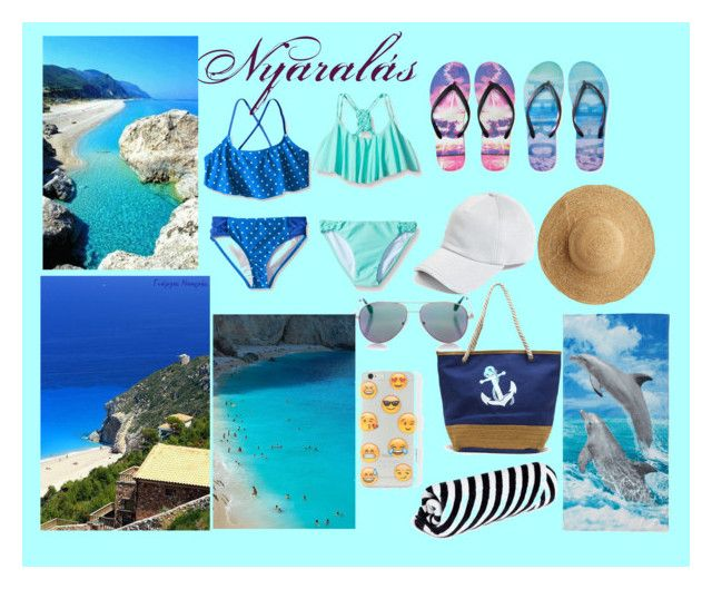 """Nyaralás Lefkadaban"" by kecskesemmaveda on Polyvore featuring interior, interiors, interior design, home, home decor, interior decorating, Seafolly, Aéropostale, The Beach People and Flora Bella"