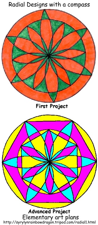 how to draw geometric designs with a compass