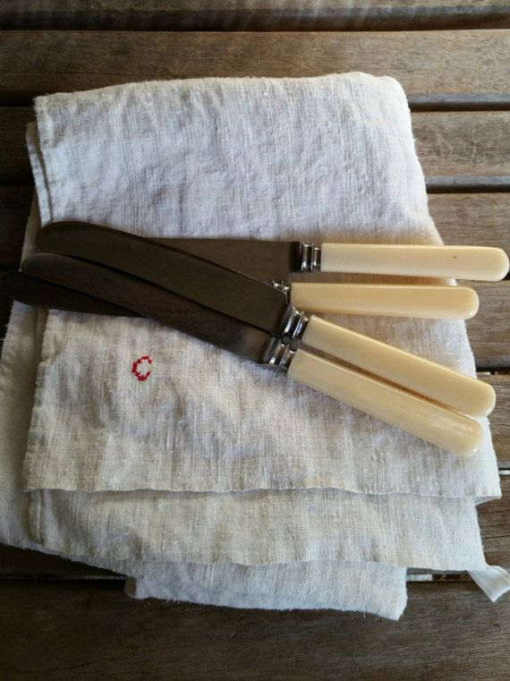 Set of Four Bone Handled Knives by FARMHOUSE1711 on Etsy