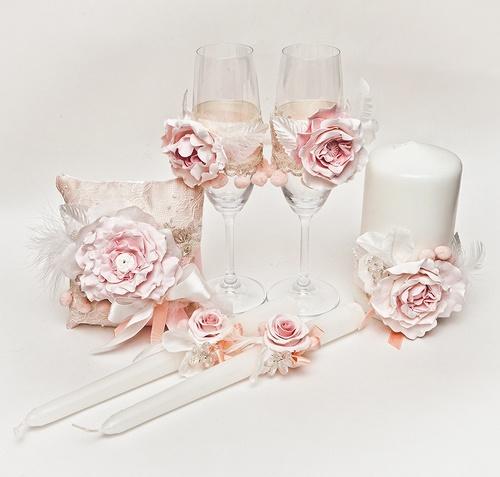 Свадебный набор аксессуаров «Розовый пион»