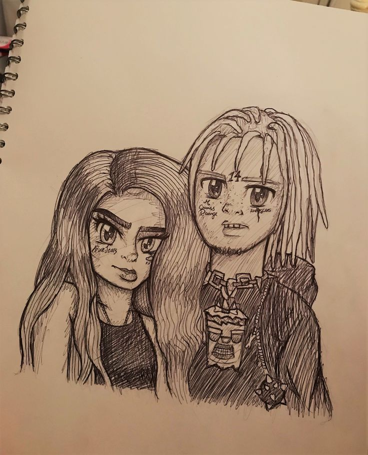 Trippie Redd X Angvish Drawings Sketches Anime Characters