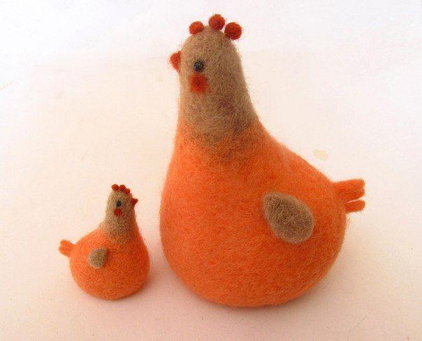 Лаконичные игрушки из шерсти - Ручные звери. Животные своими руками.