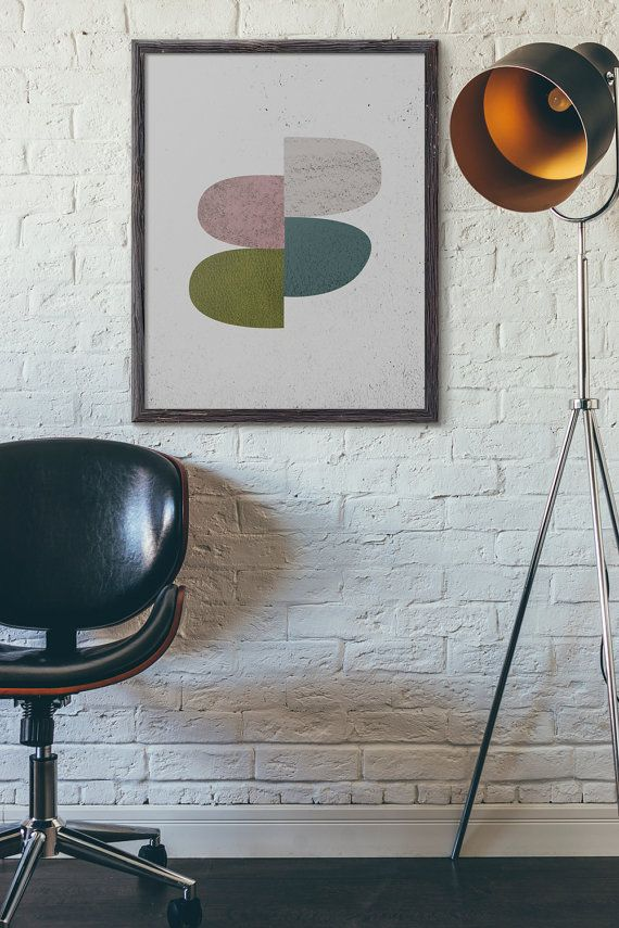 Abstract Art Printable, Instant Download, Geometric Art, Mid century, Scandinavian Print, Digital, Modern Art Print, Minimalist, D110
