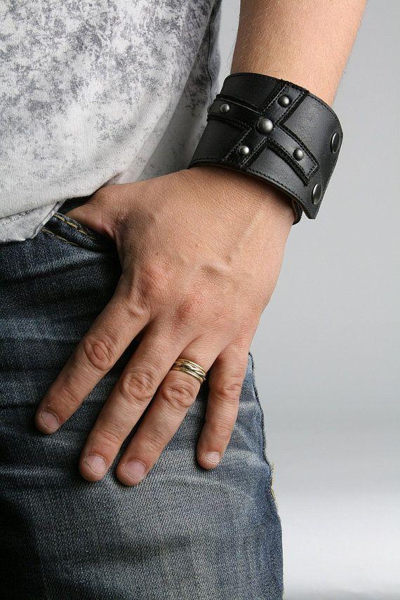 Mans Leather Bracelet