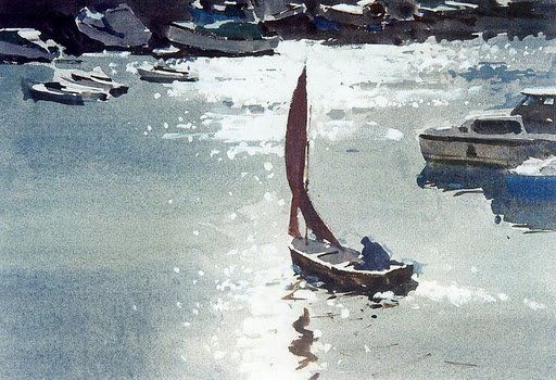 Edward Seago (1910 — 1974, UK) sketch. watercolor. - Поиск в Google