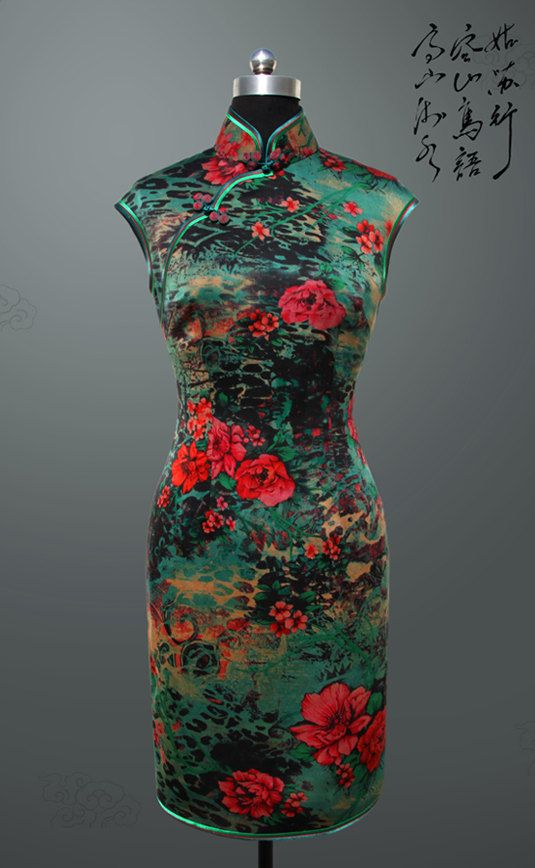 Silk QiPao Dress by ChinaRedDragon on Etsy, $280.00