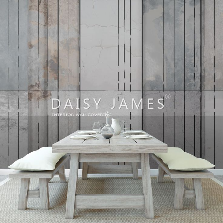 DAISY JAMES wall cover The Wooden Wall