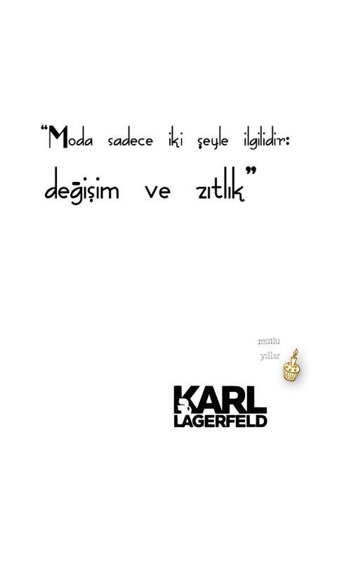 moda âleminin demir başlarından Karl, 1 yaş daha yaşlandı!  #KarlLagergeld @karllagerfeld #KarlLagerfeldBirthday