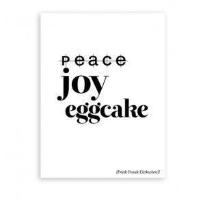 Peace Joy Eggcake Druck