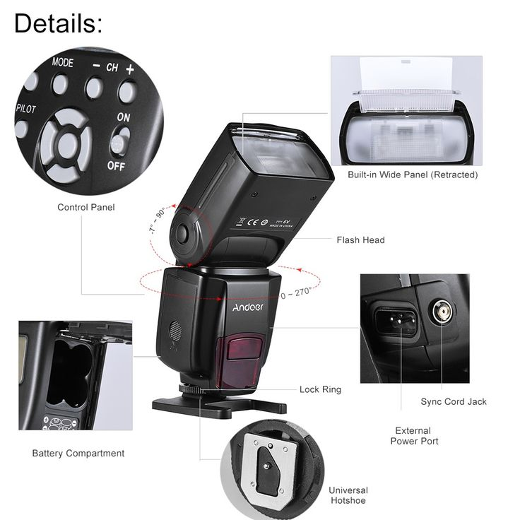 black Andoer AD560 IV 2.4G Wireless Universal On-camera Slave - Tomtop.com