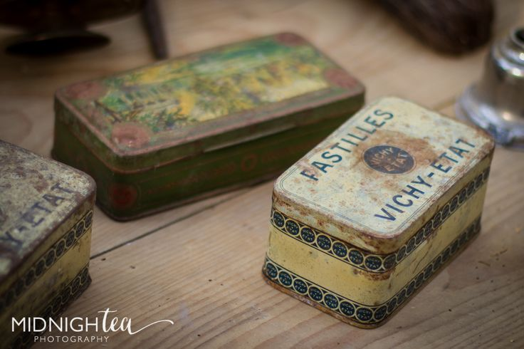 Love these antique tin boxes I found in Uzes, France