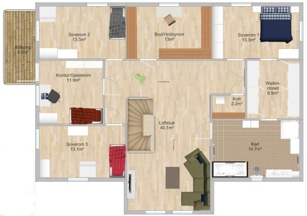 planløsning 2. etg (Drømmehuset)