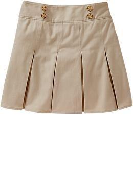 Girls Long Uniform Skorts | Old Navy