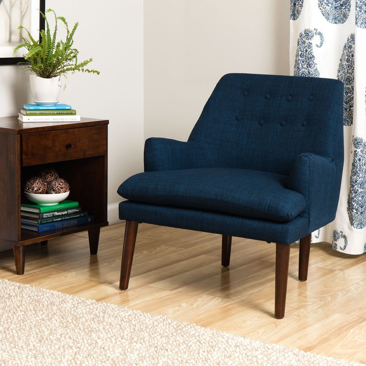 A Shapely Swivel Seat Inspired By Mid Century Design Our: 17 Best Ideas About Blue Accent Chairs On Pinterest