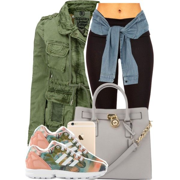✨51✨ by g0aldigger on Polyvore featuring polyvore fashion style Superdry River Island adidas Originals Michael Kors